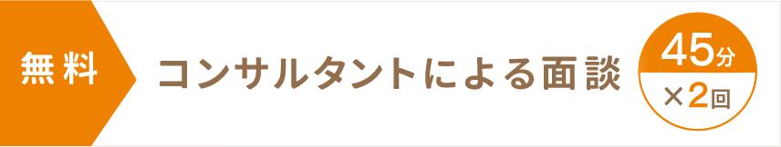 <無料>コンサルタントによる初回面談(45分×2回)